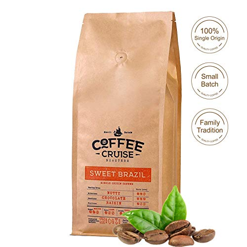 COFFEE CRUISE  Single Herkunft Kaffeebohnen - Sweet Brazil - 1 kg - 100% Arabica