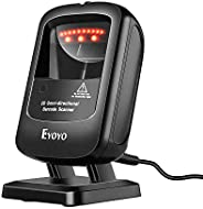 Eyoyo 1D 2D Desktop Barcode Scanner, Omnidirectional Hands-Free USB Wired Barcode Reader, Capture Barcodes fro