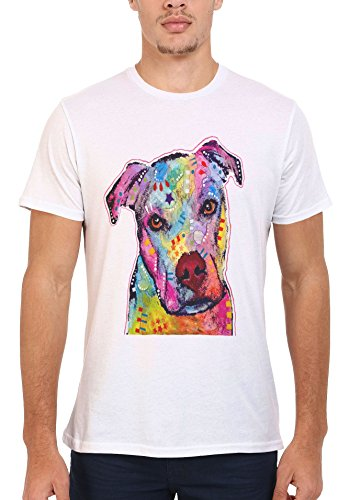 Dog Animal Doggie Cute Painting Art Novelty Men Women Unisex Top T Shirt-4XL (Top Dog Doggy T-shirt)