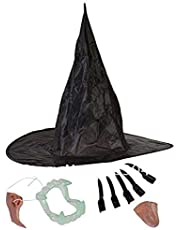 Nema Witch Set for Cosplay Halloween Party (Including Nose Hat Chin Teeth Nails)