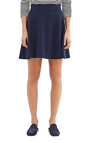 ESPRIT Damen Rock 037EE1D007, Mehrfarbig (Navy 2 401), 40 (Herstellergröße: L)
