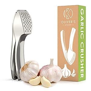 Olivers Kitchen Knoblauchpresse - Premium Stilvolle Knoblauchpressen -...