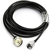 "Eightwood Mini-UHF Male To NMO 3/4"" Hole Antenna Mount Extension Cable RG58 5M"