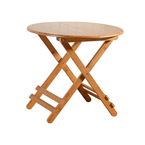 XING ZI Folding table X-L-H Klapptisch, einfacher Tisch, Kleiner quadratischer Tisch, tragbarer Esstisch aus Massivholz (Size : 60x60x50cm) -