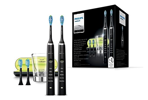 Philips Sonicare Diamond Clean HX9354/38 - Cepillos de dientes electricos con cabezal Adaptive Clean, color negro adaptive