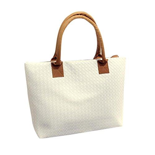 Transer  PU leather Handbags & Single Shoulder Bags Women Zipper Bag Girls Hand Bag, Damen Schultertasche mehrfarbig gold 43cm(L)*29(H)*9cm(W), rot (mehrfarbig) - ZLY60831792 weiß