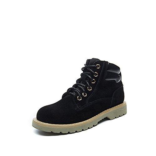 Stivaletti Stivali Stivali di Martin alta per aiutare a caldo slip antiscivolo scarpe caldo black