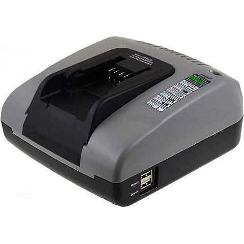 Chargeur de batterie Powery avec port USB pour outil électrique Black&Decker lawn edger LST220, 14,4V-20V [ Chargeurs pour outil électroportatif ]