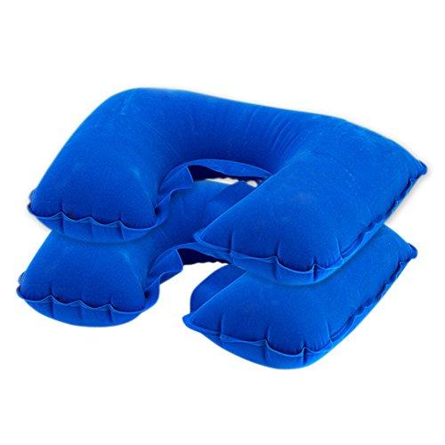 Yihao cuscino da collo viaggio gonfiabile 2 pacchi cuscini di collo viaggio cuscino gonfiabile per il collo supporto compatto e leggero per dormire in aereo, auto, e treno cuscini da viaggio