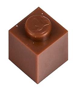 Q-Bricks 1 x 1-Stud Building Blocks Flojo Pack (250 Piezas, Brown)