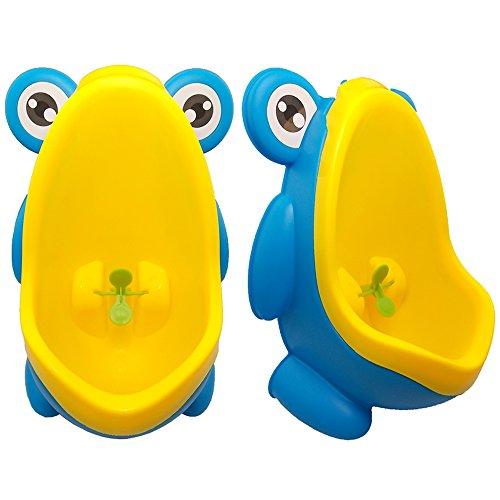 JJPRIME - Vasino orinatoio per bambini a forma di rana, aiuta i bambini a fare la pipì dentro al vaso grazie all'obiettivo centrale a forma di mulinello.