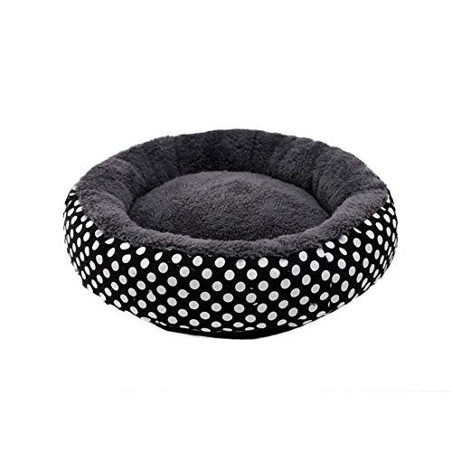 DAKERTA Deluxe-Haustierbett für Katzen und kleine bis mittelgroße Hunde. Kuschelig mit weichem Kissen. Rund Bett für Haustiere (Katzen und kleine Hunde) in Doughnut-Form.