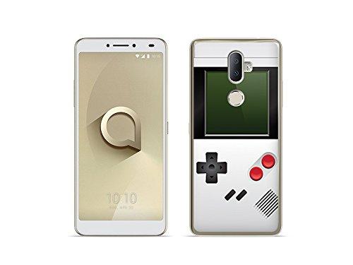 etuo Handyhülle für Alcatel 3V - Hülle Fantastic Case - Weißes Game Boy - Handyhülle Schutzhülle Etui Case Cover Tasche für Handy