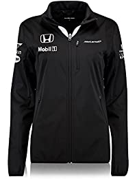 McLaren Honda Womens Team Branded Softshell Jacket Lightweight Black