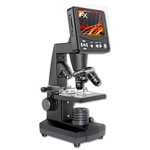 Bresser LCD-Microscope 50-500x (3.5 Inch) Displayschutzfolie - 3 x atFoliX FX-Antireflex-HD hochauflösende entspiegelnde Schutzfolie Folie