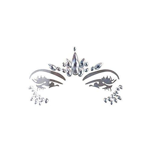 too Face Art Spinne Halloween Karneval Face Jewels Sticker- Meerjungfrau Gesicht Strass Selbstklebende Temporäre Haut Kunst Aufkleber ()