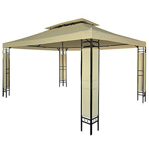 Miadomodo - Carpa para jardín y terraza beis de 3 x 4m