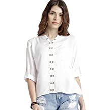 Leriya Fashion Women Tunic Short Top For Jeans Plain Diamond Georgette Top For Daily wear Stylish Casual and Western Wear Women / Girls Top