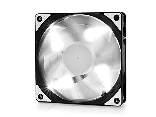 DEEPCOOL TF120 WHITE 120mm Lüfter Gehäuselüfter 4pin PWM silent für Computer Wasserkühlung CPU Kühler Weiß