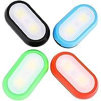 LIOOBO 4 Luces de Seguridad LED de PCS Clip en Luces estroboscópicas para Correr Correr Perros Ciclismo Caminar Ejercicio: baterías no Incluidas