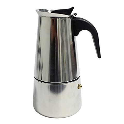 6-Cup Stovetop Espresso Maker Italian Moka Coffee Pot by Kurtzy