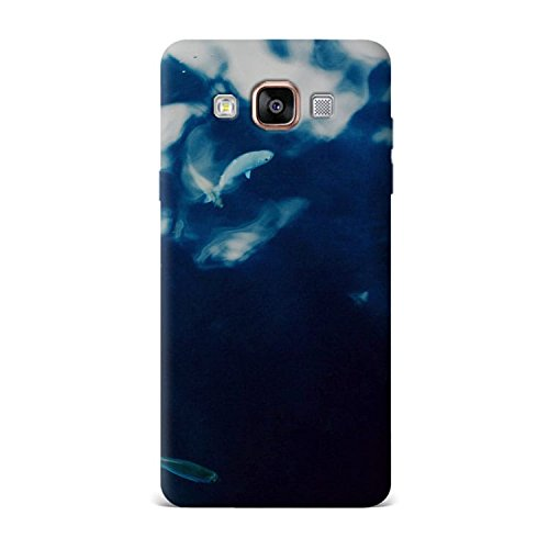 Samsung A5 Case, Samsung A5 Hard Protective SLIM Printed Cover [Shock Resistant Hard Back Cover Case] for Samsung A5 - Water Lake Fish Nature Indigo Blue  available at amazon for Rs.299