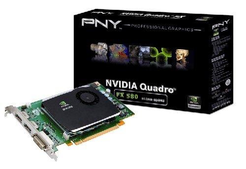 PNY NVIDIA Quadro FX 580 Grafikkarte (PCI-e, 512MB, GDDR3 Speicher, DVI, HDTV) bulk (Dvi-hdtv-pci Express)