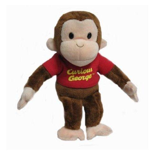 Curious George - Stofftier (bean bag) rotes Shirt- (Coco der neugierige Affe) 20cm gross - Plüschtier, Stofftier - aus - Der Affe Spielzeug George