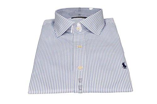 Ralph lauren -  camicia classiche  - a righe - uomo bianco white - blue stripe