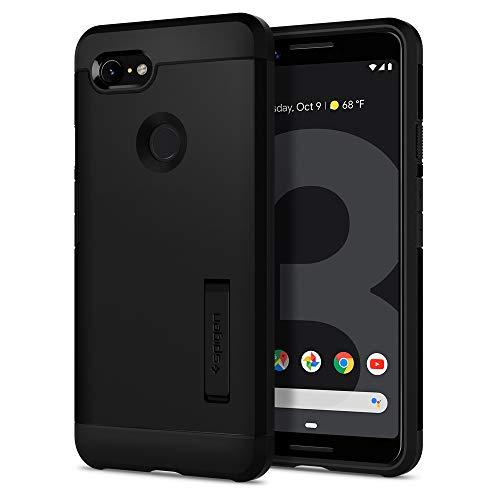 Spigen Tough Armor, Google Pixel 3 Hülle, F19CS25034 Stoßabweisende Doppelte Schutzschicht Handyhülle für Extrem Fallschutz Schutzhülle Case (Schwarz)