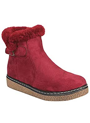 Flat n Heels Womens Maroon Boots FnH 1710-23-MRN
