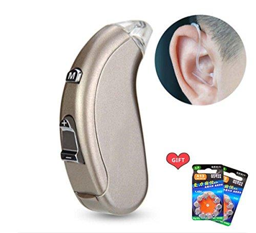 A/c-filter-trockner (Super Mini Invisible Hearing Aid Gerät Hilfsmittel Hörgerät Hörhilfe Hörverstärker mit Tragebügel (Hörgerätset mit Batterien + Aufsätzen) (B))