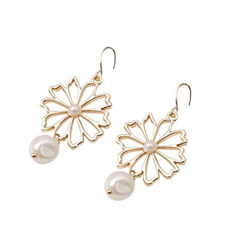 JYJM Ohrringe kreative Damen Metall Unregelmäßig Geformte Geometrische Perlen Böhmen Mode Elegant Ohrringe Mehrere Stile Frauen Trend Ohrringe (Paare Einfache Kreative, Für Halloween-kostüme)