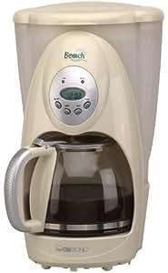 Clatronic Ka 2742 Cafetière Électrique 10 à 12 Tasses Porte Filtre Amovible Système Anti Gouttes Horloge Programmable à Afficheur Lcd Arrêt Automatique