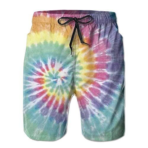 Jocper Herren Tie Dye Print Schnelltrocknend Strand Surf Board Shorts Badehose Cargo Shorts M - Junioren Tie Dye