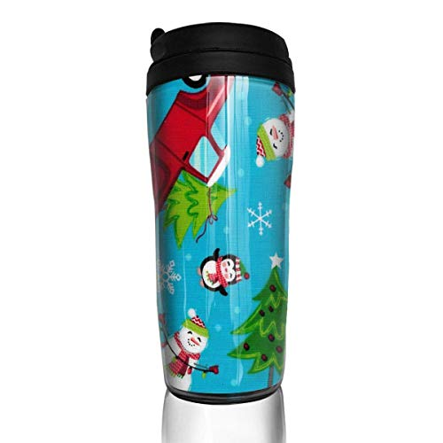 Print Insulated Travel Mug (Travel Coffee Mug Cotton Print Fabric Stainless Steel Insulated Travel Mug Car Coffee Mug Thermal 12 OZ)