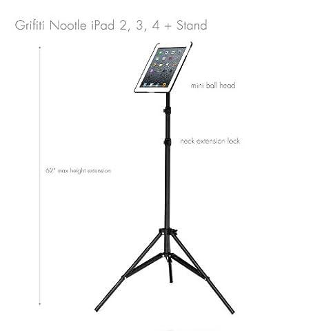 Grifiti Nootle iPad Tripod Mount and Stand: iPad Tripod Mount (2, 3 and 4), Aluminum (Sfera Di Musica)