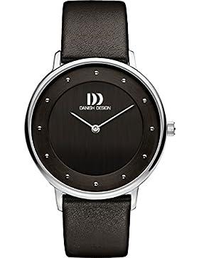 Danish Design Damen-Armbanduhr Analog Leder Schwarz DZ120505