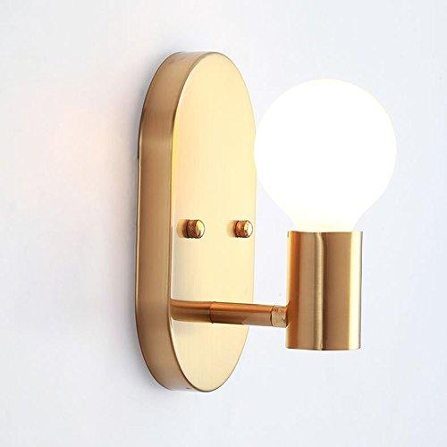 Vinteen e27 nordic camera da letto lampada da parete applique applique creative ovale singola applique da parete metallo ferro art semplice 1-luce moderna corridoio corridoio decorazione lanterna da parete spotlight