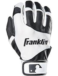 Franklin Sports MLB Youth Flex Batting Gloves, Black/White, Medium