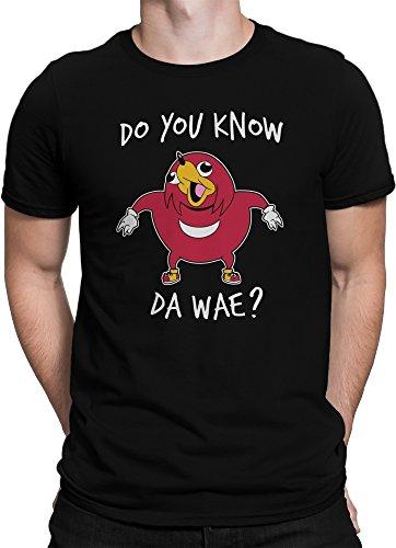 vanVerden Unisex T-Shirt XS-5XL Uganda Knuckles Do You Know Da wae?, Größe:3XL, Farbe:Schwarz