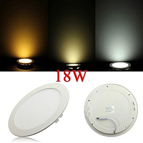 Regulable Ultrathin 18W LED de techo redondo de Down Lámpara Luz del panel.
