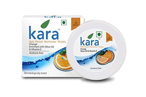 Kara Wipes Nail Polish Remover, Ornge (30 Pulls)