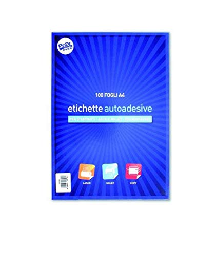 100 Hojas adhesivas en formato A4