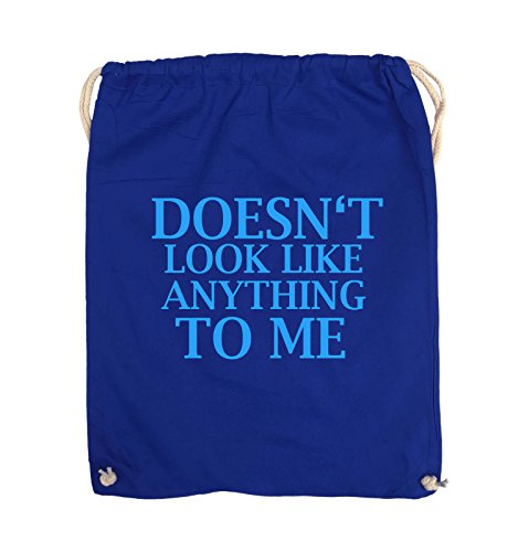 Comedy Bags - DOESN'T LOOK LIKE ANYTHING TO ME - Turnbeutel - 37x46cm - Farbe: Schwarz / Pink Royalblau / Blau
