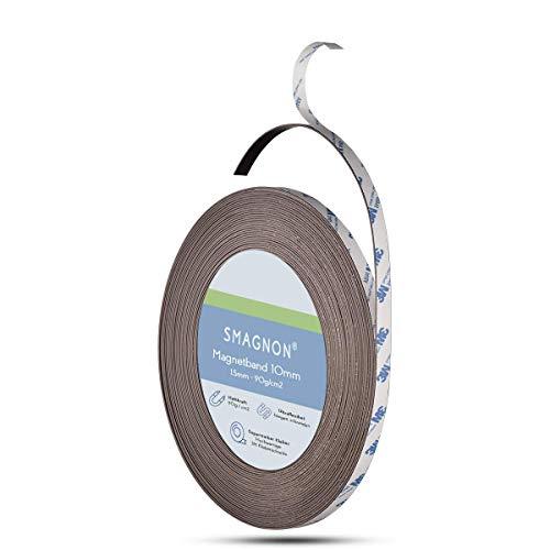 Smagnon AUSWAHLANGEBOT! Magnetband mit 3M Kleberücken selbstklebend 10-12,7-15 - 25,4mm Typ A + Typ B oder einzeln (10mm, Typ B)