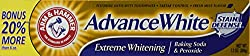 Arm and Hammer Advanced White Tartar Control Toothpaste Fresh Mint Flavor 7.2 Ounce Tube (Pack of 3)