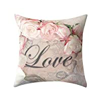 Fashion sofa cushion cover Rose Lily Pillow Pillowcase Pink Girl Heart Square Throw Pillow Cases Sofa Bed Bedroom Home Decor Car Throw Pillow Covers