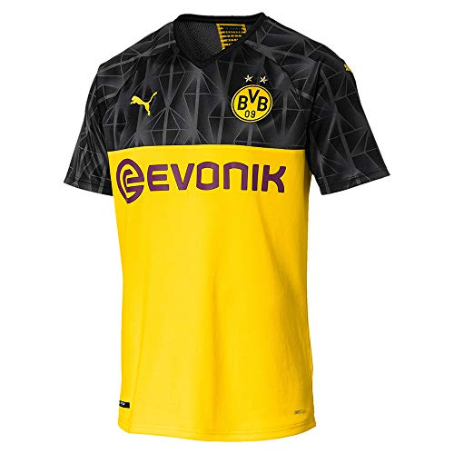 Puma Herren BVB Cup Shirt Replica with Evonik Without OPEL Logo Trikot, Cyber Yellow Black/Ebony, M -