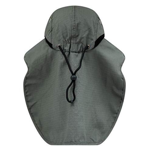 JOYOTER Angeln Flip Cap Leichte wasserdichte tragbare UV-Nackenschutz Sonnenhut zum Wandern Camping Sport